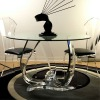 classic clear acrylic table and chair