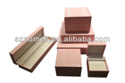 Jewellery boxes wholesale Pink leather wooden jewelry box