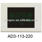 3 Lines Office Lights Linked Control Touch Screen Switch
