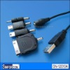 USB to DC3.5/1.1ale with dc to cellular mini usb, micro usb adapter, usb smart charger cable