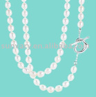 Classical Pearl Heart Tag Toggle Necklace Jewellery (SVN727)