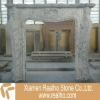 Marble stone fireplace