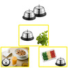 Electroplating Stainless Steel Restaurant Dining Dishes Vegetable Passing Bell Small