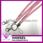 Crystal Bling Lanyards with Batch Holder/Lobster Hook
