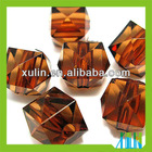 24-faceted acrylic round beads coffce hot sale