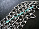fancy silver color aluminum chain link insect screen