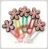 flower shaped pvc paper clip