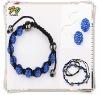 2012 Latest Fashion Shamballa Necklace Wholesale Jewelry Set