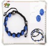 2012 Latest Fashion Shamballa Necklace Wholesale Jewelry Set