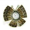 2012 fashion antique rhinestone butterfly ring watch