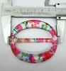fashion plastic painting buckle for garment belt decoration