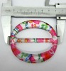 fashion plastic painting buckle for garment belt decoration