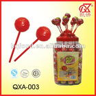21g Ping Pop Fruity Bubble Gum Plastic Lollipop