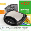 GS approval top quality 3 in 1 waffle maker