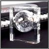 high end K9 crystal clock,desk clock as wedding gift