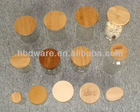 Airtight wood lids & cover for glass jars