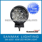 45W 10-60V CREE LED truck driving headlight for offroad UTV SUV tractor SM6051-45W