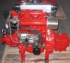 Marine diesel engine with and without gearbox