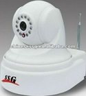 3g video alarm home security camera with PTZ ir nigh vision&remote control by smart phone