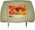 7 inch headrest monitor with pillow