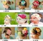 Fashion Decoration Colorful flower headbands cotton hair band cotton head scarf Baby headwear headdress