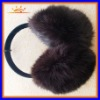 Custom rabbit faux fur earmuff