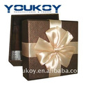 small gift packing paper box with silk ribbon(YK9903)