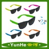 Low Price Promotion Gift Neon Color Plastc Custom Logo Printed Lens Sunglasses Manufacturer