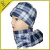 polar fleece cap and scarf