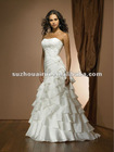 2306f Strapless Taffeta Cascade skirt A-line wedding Dress