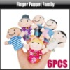 6 pcs Family Finger Puppets Cloth Toy Baby Stories Helper Doll Educational Christmas, YGA310A