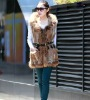 2012 Fashion Women knitted long rabbit fur vest with raccoon dog fur and hood