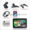 4.3 inch Touchscreen gps navigating instrument , classical model with FM transmitter, AV-in, Bluetooth, 4G SD card