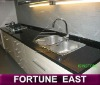 Black granite kitchen tops