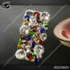 luxury Hot sell fancy color rhinestone cases for iphone4 or iphone4s