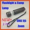 cree q5 zoom led flashlight use as camping lamp HT-HF045