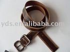Best sellers coffee real leather custom belt with pin buckle