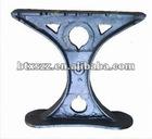 black cast iron bench legs