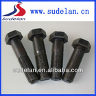 Fasteners different sizes of hex head half thread bolts