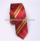 Wizarding World of Harry Potter Set of 100% Silk Ties,Red stripe man's ties