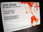 [Printed Plastic business card