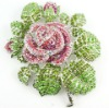 Crystal Rose flower brooch bouquet