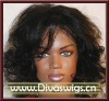 african american people black loose curly human Hair lace Wig