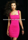Free Shipping pink fashion bandage dress pink cocktail dress 2012