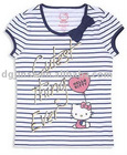 children' 100% cotton O-neck print shirt