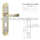 Iron door lock,door hande on plate,lever on plate