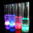 2012 Flashing halloween straw led Straw Glass cup /led light up cup for pub/ led multicolor cup/bar accessories