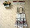 children's 100%cotton short ruffled skirt with print