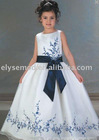 Fabulous Scoop Neck Taffeta White Beuautful Flower Girl Dress Embroidery