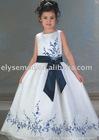 Fabulous Scoop Neck Taffeta White Beuautful Flower Girl Dress Embroidery